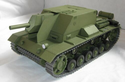 Modelik 03//10 Russ Selbstfahrhaubitze SG-122i  mit Lasercutteilen
