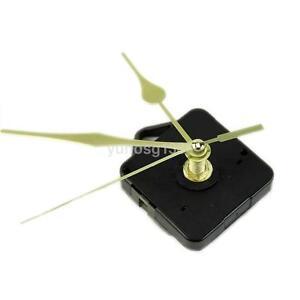 Practical Quartz Clock Movement Sweep Mechanism Long Spindle Gold Hand Kit DIY