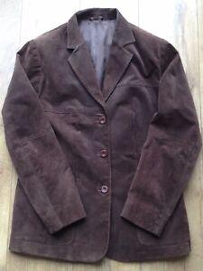 pelle lunga bottone formale marrone 16 eu vintage 44 con in Giacca Vita donna Uk qw0E1Zgx