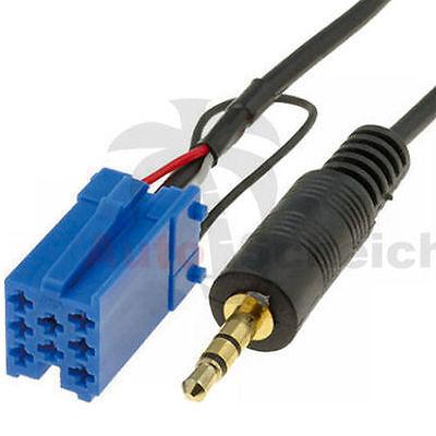 AUX IN Adapter Kabel für Smart 450 For Two iPhone Radio Grundig Stecker Handy