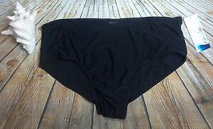 Catalina Womens Swim Solid Short Black Swim Bottoms Plus Size 3X XXXL 22W-24W