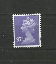 Great Britain Machin 97p OFNP PVA 2B BLUE PHOS DE LA RUE DG 970.1.1 SG U479  MNH