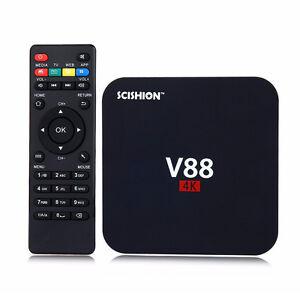 SCISHION V88 PRO Android Box 4K Quad Core 1GB+8GB ROM WiFi Multi-media Player