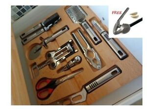 Image Is Loading Solid Wood Wooden Kitchen Drawer Insert Cutlery Tray