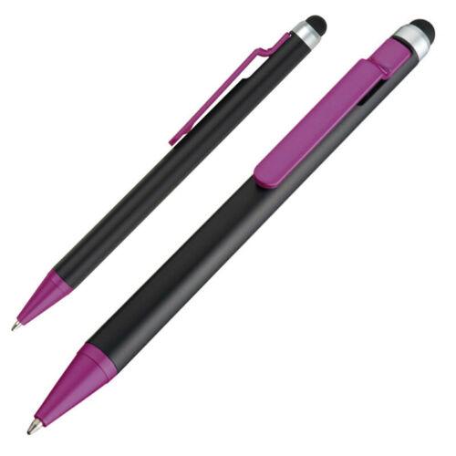Farbe 10 Touchpen Kugelschreiber schwarz-lila
