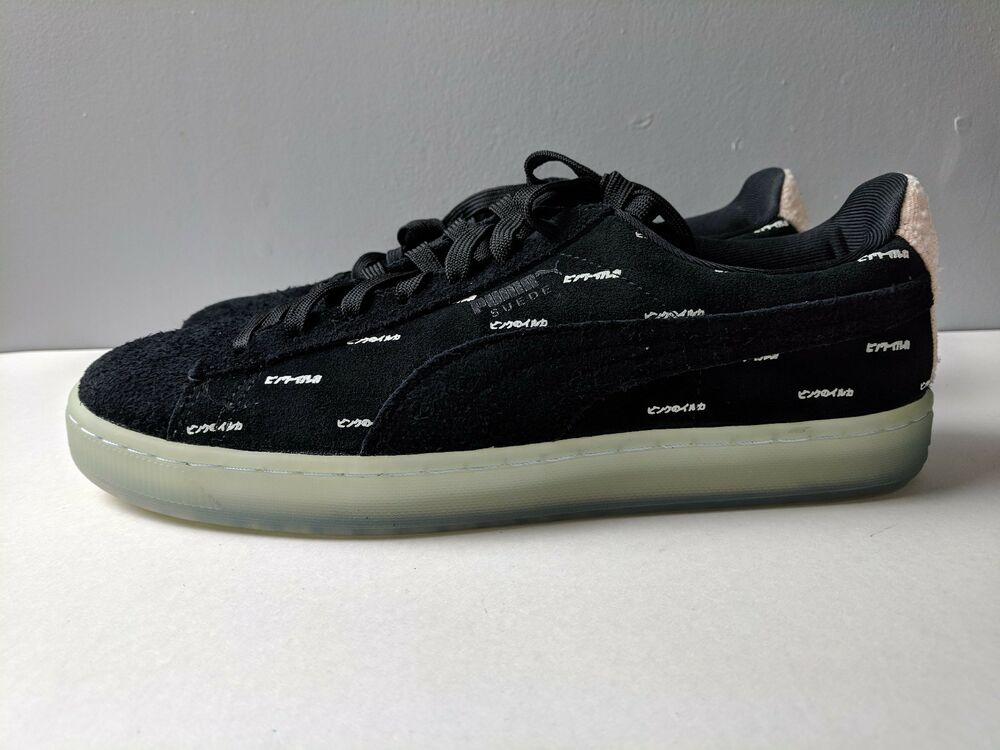 Brand New  Puma homme Suede V2 Pink Dolphin noir Caramel Taille 9.5 chaussures Sneaker