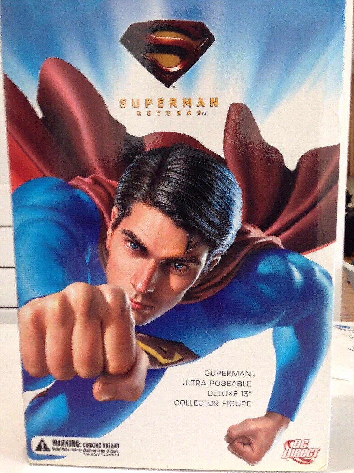 1 6 Superman Limited Edition 13  Deluxe Action Figure da Collezione in Scatola DC Direct