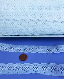 Vintage-Eyelet-Lace-Trim-7-8-034-wide-White-8-yards-Lot-113