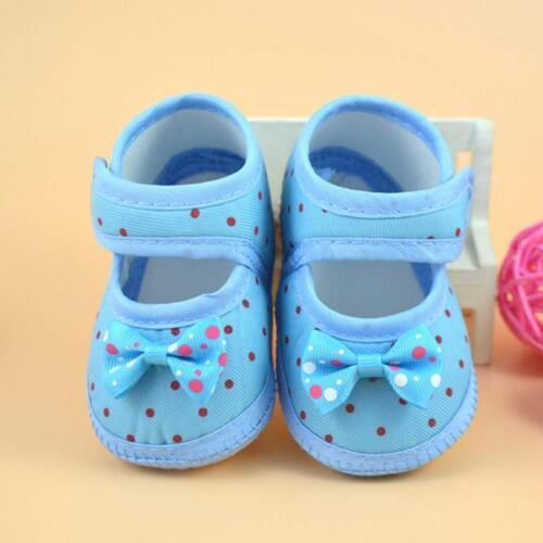 Newborn Baby Girl Soft Sole Crib Shoes Bowknot Anti-slip Sneaker Prewalker 0-10M
