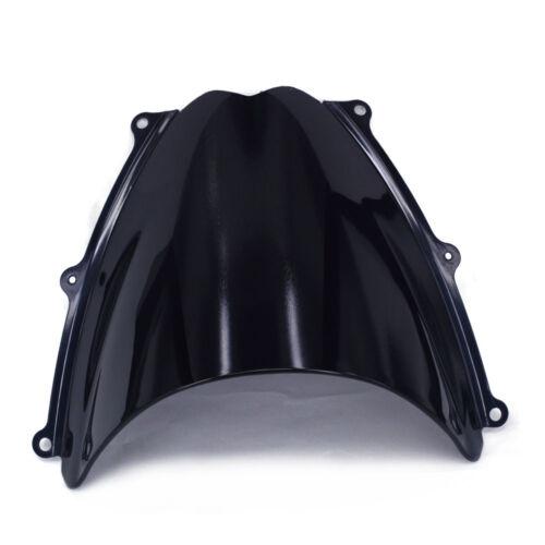 Black Windshield Windscreen Screen Double Bubble For Suzuki GSXR1000 K7 07-08