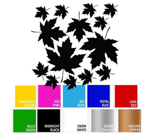 Maple Leaf Fall Plant Decal Sticker for Home Wall Car Window Macbook Laptop DIY