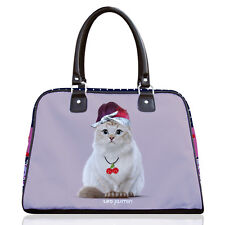 Teo Jasmine America Cat Lovers Bowling Bag Handbag Tote 'Rockabilly' 50s Style