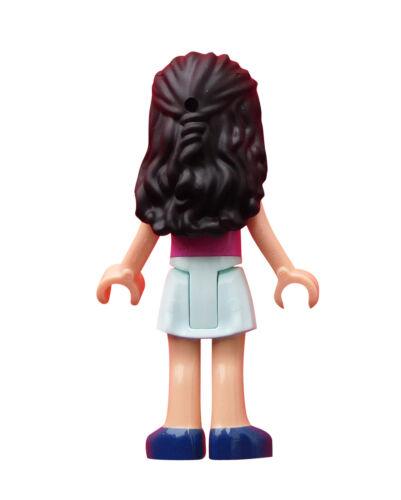 frnd270 Lego Friends Emma dunkelrosa Shirt mit Punkten Minifigur Figur Neu