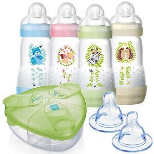 MAM-2017-Anti-Kolik-Baby-Flaschen-Anti-Colic-260-ml-mit-optionalem-Zubehoer