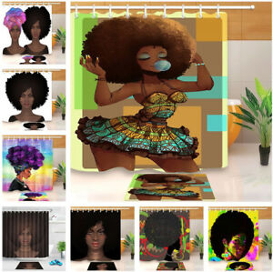 Image Is Loading Purple Hair Afro Beauty American African Black Woman