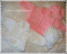 Baby/Reborn doll designer knitting pattern To Make.. Cardigan/Hat Set X 2