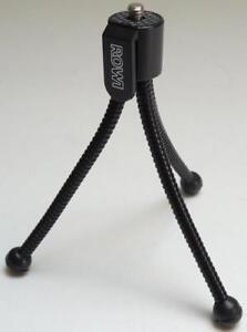 "ROWI Mini Small Universal Flexible Tabletop Tripod for Digital Camera 1/4"" Screw"