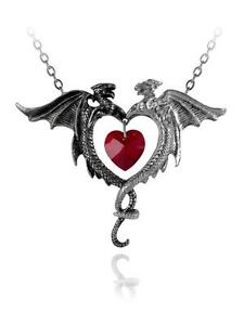 Couer sauvage dragonheart pendant alchemy gothic jewellery p446 image is loading couer sauvage dragon heart pendant alchemy gothic jewellery mozeypictures Gallery