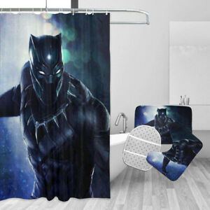 Newest Doctor Who Bathroom Rugs 4PCS Shower Curtain Bath Mat Toilet Lid Cover