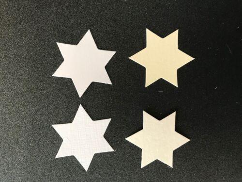 Forma de estrella Die Cut//tarjeta Topper//capas Panel pk25 Elige Tu Color