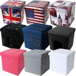 teprovo-cubo-asiento-taburete-Caja-de-almacenamiento-dekohocker-Plegable