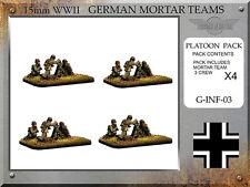 Forged in Battle FOW WW2 15mm German Granatwerfer 34 8cm Mortars