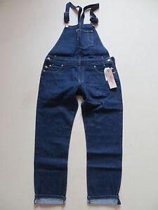 Levi-039-s-Damen-Latzhose-Latz-Jeans-Hose-Gr-44-NEU-Dark-Indigo-Denim-Overall