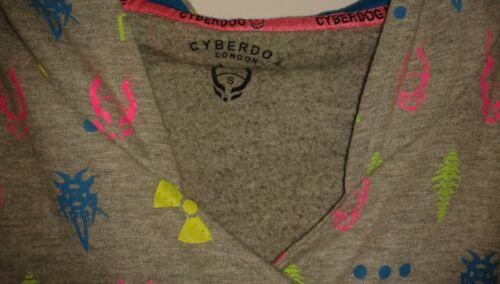 Cyberhond grijs met kleurrijke Cyberhond Jackmaat symbolen en Klein capuchon Hoodie 1XqqdI