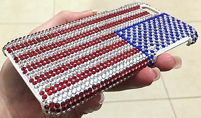 Conscientious American Us Flag Bling Made With Swarovski Crystals Luxury Case Cover Iphone 7/8 Cell Phone Accessories