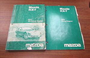 1984 Mazda Rx 7 Service Repair Workshop Manual Electrical Wiring Diagram Set Ebay