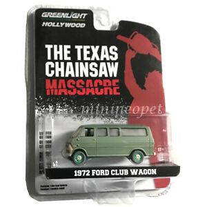 Greenlight 1:64 Scale 1972 Ford Club Wagon Texas Chainsaw Massacare 44870-A  ltd