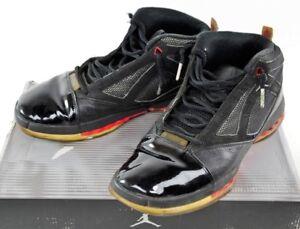 fb45e37317bc1b 136059-061 Nike Air Jordan XVI Black Patent Leather Basketball Shoes ...