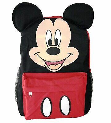 """Disney Mickey Mouse Mit Ohren Rucksack Schulbuch Tasche Rucksack 16 """" Für Kinder"""