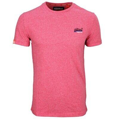 Superdry Men/'s T-Shirt Orange Label Vintage Heather Red M10107ET