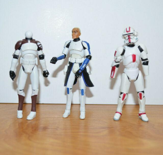STAR WARS CLONE WARS CAPTAIN REX Action Figure & Clone Trooper Parts Lot