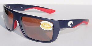 2c9ef93721b3 COSTA DEL MAR Motu 580P POLARIZED Sunglasses USA Blue/Silver LIMITED ...