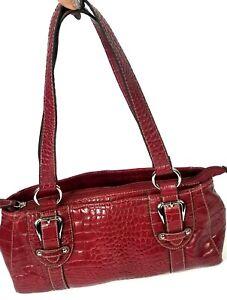 Medium-Red-Women-039-s-Fashionable-Designer-Handbag-Purse-Three-Main-Compartments