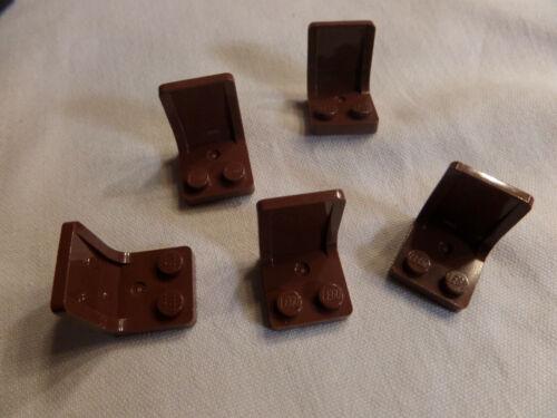 5 x Lego 4079 Sitz Sessel Stuhl city rotbraun reddish brown 4211206