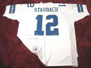 sale retailer 355da 90751 Details about #12 ROGER STAUBACH DALLAS COWBOYS WHITE THROWBACK NFL SEWN  JERSEY - CHOOSE SIZE