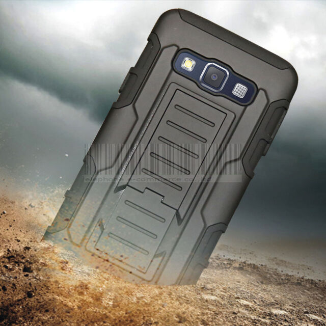Heavy Duty Shockproof Hybrid Armor Cover Hard Case Holster For Samsung Galaxy A3