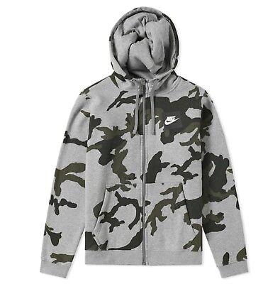 Nike Sportswear AOP Club Sweat à capuche AH7019 063 Gris Foncé Heather S M L   eBay