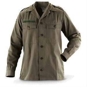 Homme Militaire Chemise Champ Armée Veste De Combat BDU Manteau Vintage Surplus = M