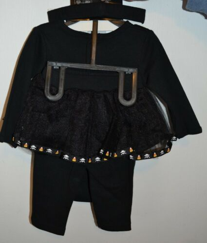 Spencer/'s Baby 3 Piece Glow in the Dark Skeleton Jumper Skirt /& Headband