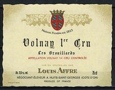 Etiquette de Vin -L.Affre - Les Brouillards - Volnay 1°cru - Réf.n°131