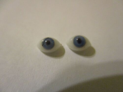 6 mm Blue Antique Oval Glass Eyes Dolls Clay Small Miniature Ooak