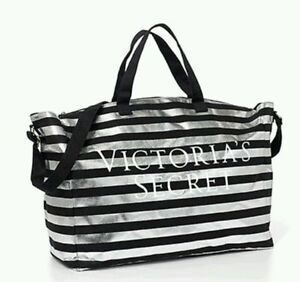 Image Is Loading Nwt Victoria 039 S Secret Silver Amp Black