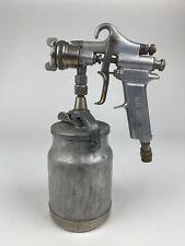 Vintage Devilbiss Paint Spray Gun Type Mbc With Paint Pot And Nozzle Cap 30