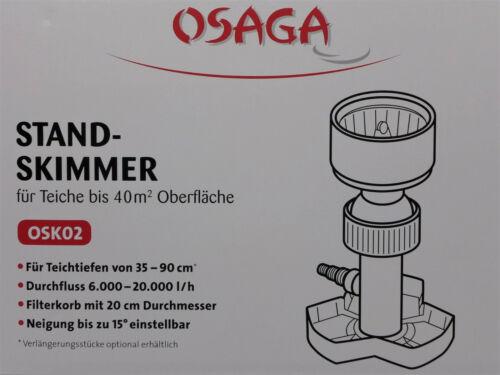 OSAGA Teich-Skimmer Standskimmer für Garten-Teiche bis 40m² Oberfläche Zubehör