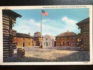 Vintage-Postcard-gt-1933-gt-Interior-gt-Fort-Dearborn-gt-Chicago-World-039-s-Fair-gt-Chicago-gt-Ill