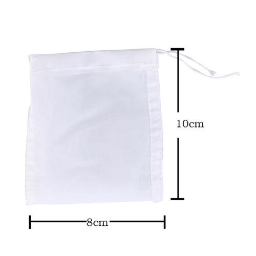 1x reusable food nut milk tea fruit juice brew wine nylon mesh filter bag FH
